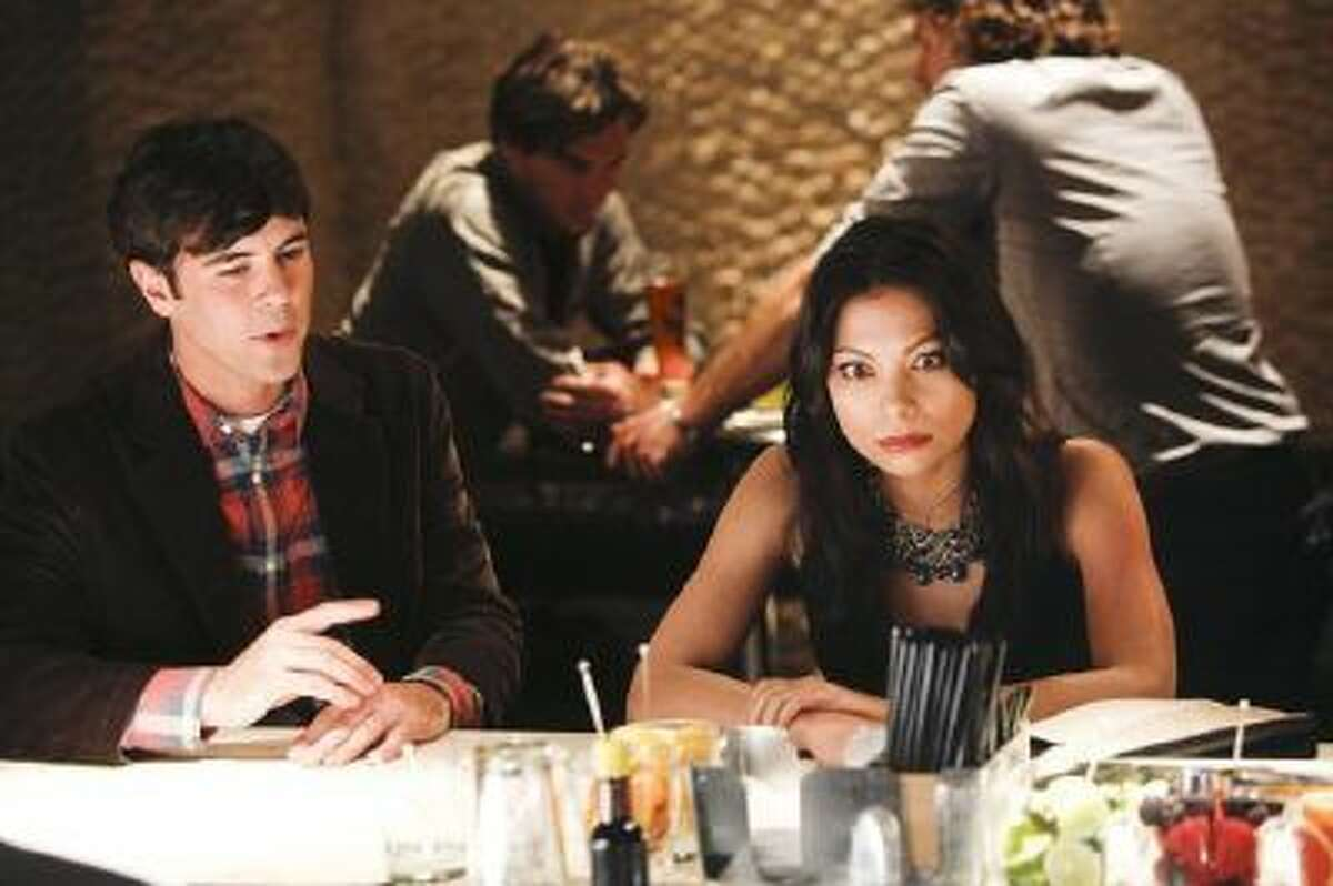 """At left, Blake Lee and Ginger Gonzaga, two of the single people in search of romance in """"Mixology."""" The entire season follows 10 people at a bar over one night."""