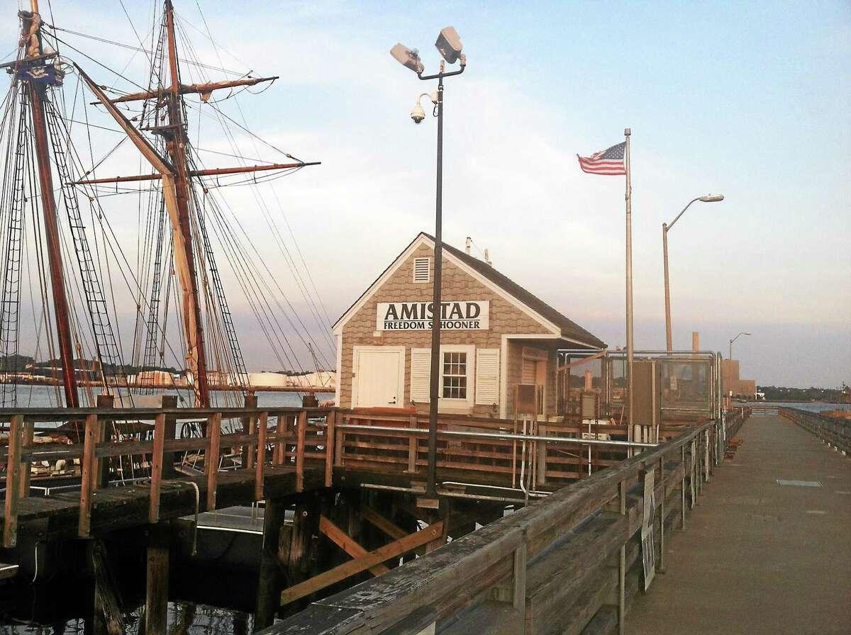 The Freedom Schooner Amistad in port in New Haven
