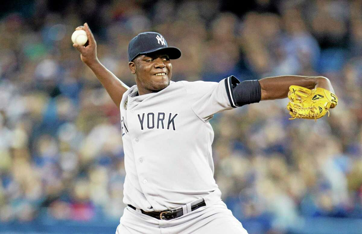 Yankees starting pitcher Michael Pineda throws during the first inning Saturday.
