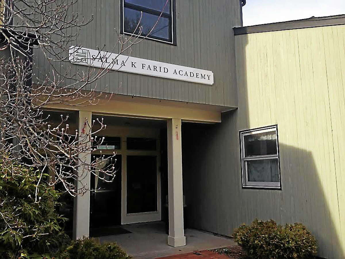 The owner of Edible Arrangements, Tariq Farid, is suing the town of Branford over the decision to tax property at 56 Stony Creek Road, the location of Farid's Shoreline Islamic Academy. A check on the property however shows the building commissioner declared the building structurally unsound back in January. (EVAN LIPS — NEW HAVEN REGISTER)