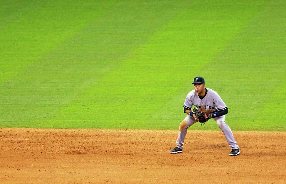 The Yankees and shortstop Derek Jeter lost to the Astros 3-1 on Wednesday. Photo: The Associated Press   / Conroe Courier