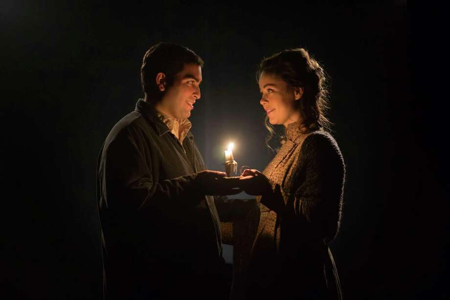 "Yale Opera  Esteban Cordero (Rodolfo) and Nicole Percifield (Mimi) in ""La Boheme."" Photo: Journal Register Co. / Bob Handelman"