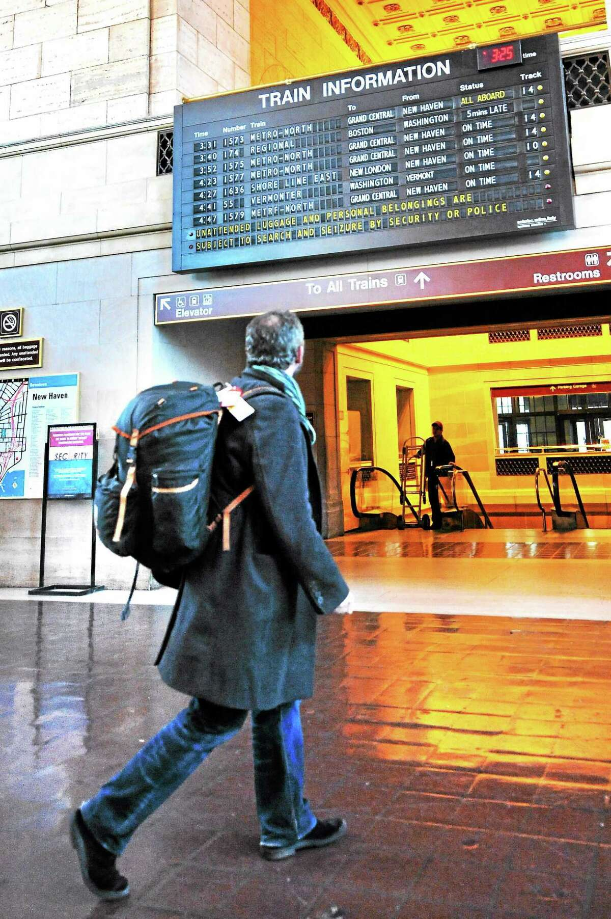 New Haven Register file photo Union Station lobby