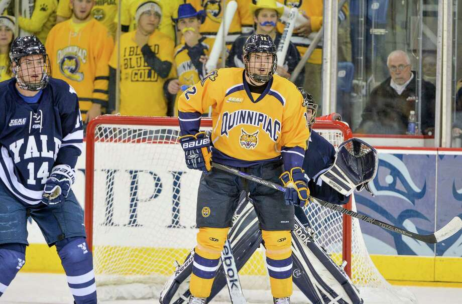 Quinnipiac's 6-foot-3, 220-pound junior forward Bryce Van Brabant scored nine goals in his first two seasons. He now has nine goals in his last 13 games, and plenty of NHL scouts following him around. Photo: Photo Courtesy Of Quinnipiac Athletics   / Copyright John Hassett 2013. All rights reserved