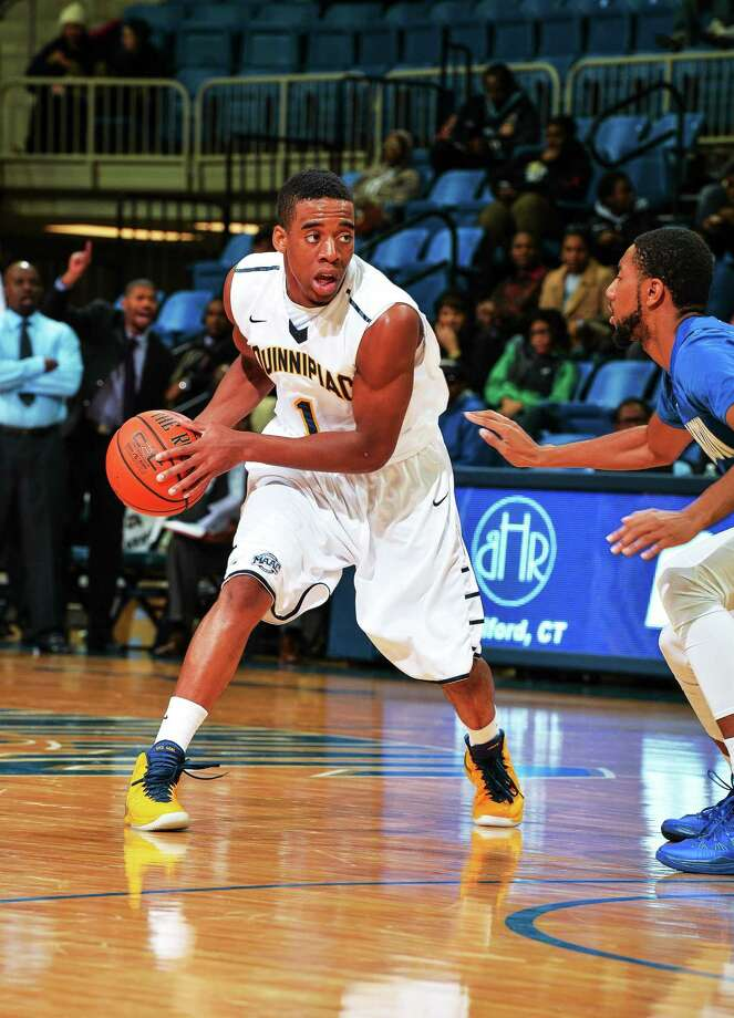 Zaid Hearst and Quinnipiac will take on Fairfield (weather permitting) on Thursday night. Photo: Photo Courtesy Of Quinnipiac Athletics   / Copyright John Hassett 2013. All rights reserved
