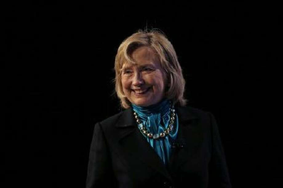 Former Secretary of State Hillary Rodham Clinton delivers remarks Jan. 27 to the National Automobile Dealers Association meeting in New Orleans. Photo: AP / AP
