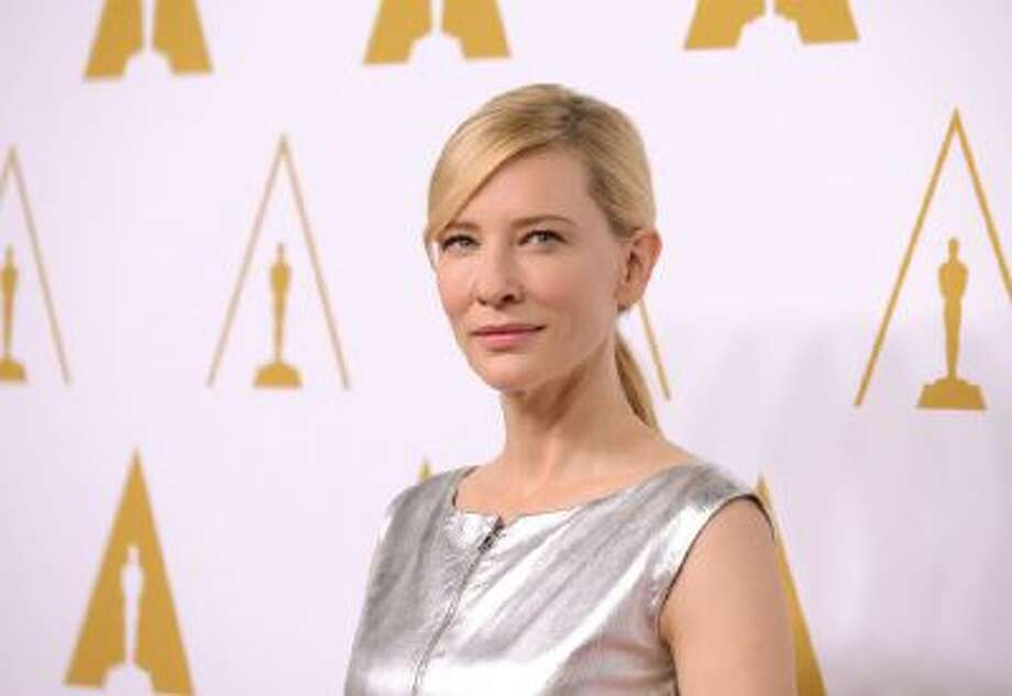 Cate Blanchett arrives at the 86th Oscars Nominees Luncheon on Feb., 10, 2014 in Beverly Hills, Calif.