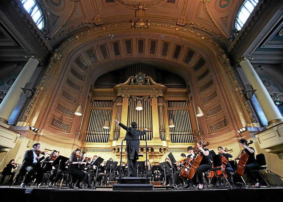 Yale Music School  The Philharmonia Orchestra in Woolsey Hall. Photo: Bob Handelman / Copyright Bob Handelman