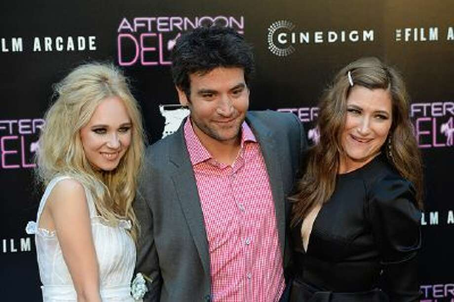 """Actors Juno Temple, Josh Radnor, and Kathryn Hahn attend the premiere of the Film Arcade and Cinedigm's """"Afternoon Delight"""" at ArcLight Hollywood on August 19, 2013 in Hollywood, California. Photo: Getty Images / 2013 Getty Images"""
