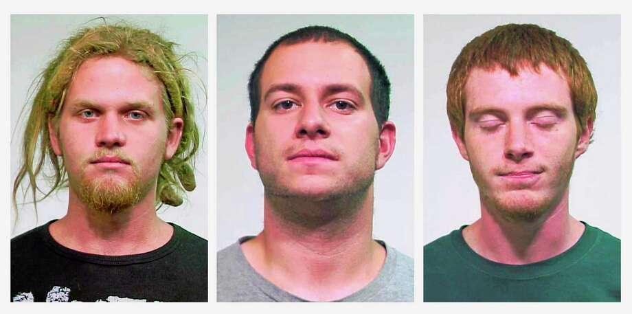 This combo made of undated file photos shows, from left, Brent Vincent Betterly of Oakland Park, Fla.; Jared Chase of Keene, N.H.; and Brian Church of Ft. Lauderdale, Fla. Photo: Chicago Police Department   / Chicago Police Department