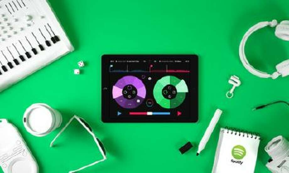 Pacemaker's iPad app uses Spotify to provide its music.