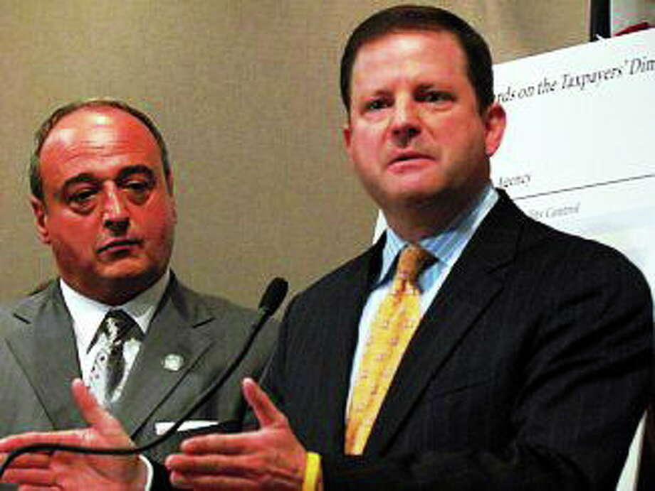 Sen. Minority Leader John McKinney and House Minority Leader Lawrence Cafero. Photo: CT NewsJunkie File Photo