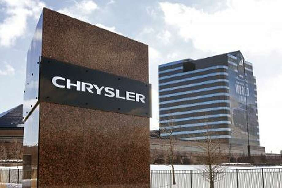 The former Chrysler world headquarters is shown January 29, 2014 in Auburn Hills, Michigan.