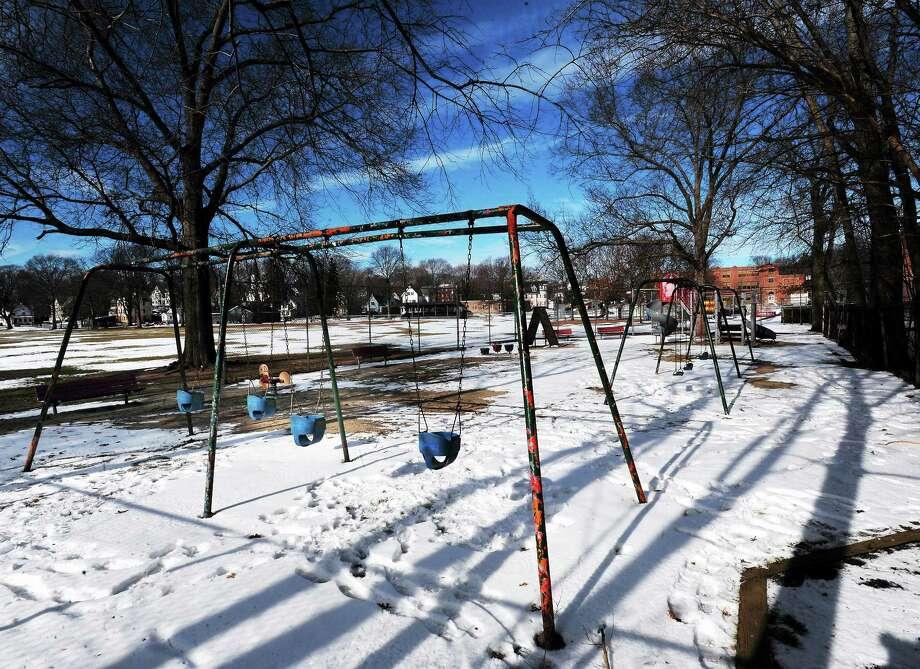 January 28, 2014 Branford  One of two playgrounds at Hammer Field in Branford. Photo: (Mara Lavitt - New Haven Register)    / Mara Lavitt