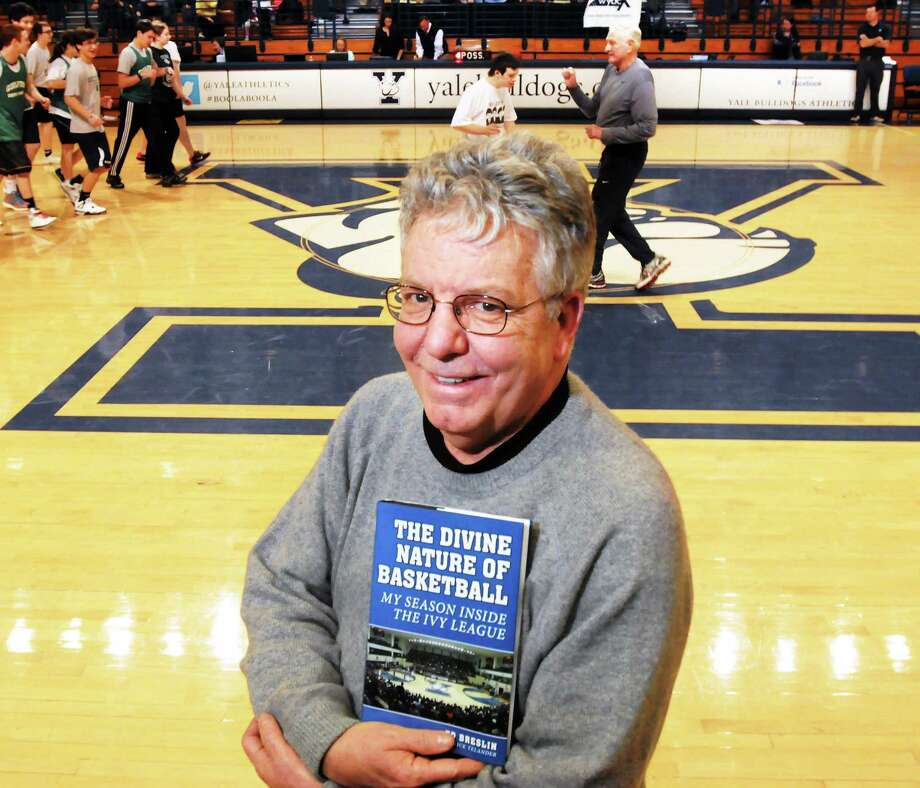 """Author Ed Breslin, here at the Lee Amphitheater in New Haven, followed the Yale men's basketball team throughout the 2011-12 season in order to write """"The Divine Nature of Basketball: My Season Inside the Ivy League."""" Photo: Mara Lavitt — Register   / Mara Lavitt"""
