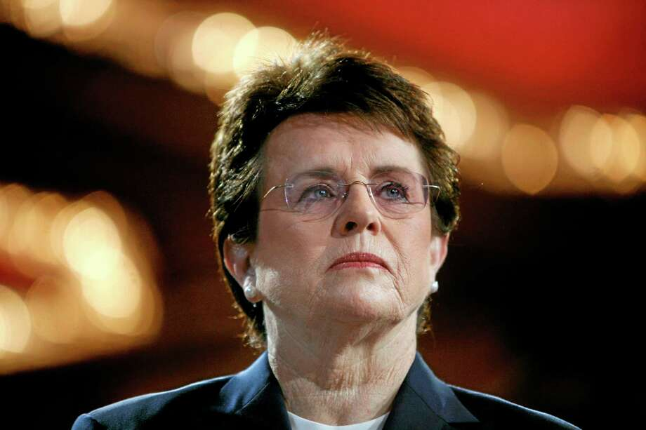 FILE - In this June 4, 2007, file photo, tennis champion Billie Jean King is introduced during a town hall conversation hosted by the group Women for Hillary in New York. King will not attend Friday's opening ceremony of the Sochi Olympics in Russia because her mother is ill.  King, chosen in December to help lead the U.S. delegation to the Sochi Games, has been outspoken in her opposition to Russia's anti-gay law and had planned to attend ice hockey and figure skating events and meet U.S. athletes during her three-day visit to the games. (AP Photo/Jason DeCrow, File) Photo: AP / AP