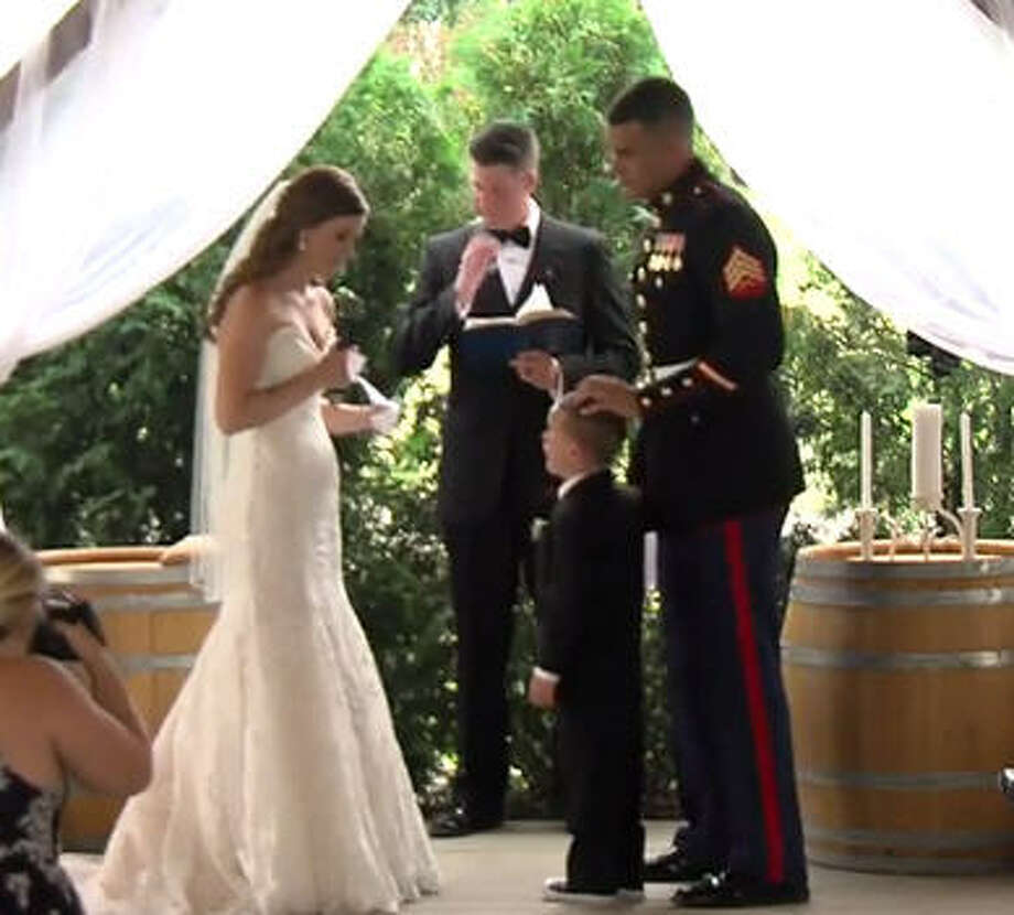 A 4-year-old boy broke down in tears during his stepmom's wedding speech as she professed her love for him.>>Click through to see some of the hottest wedding trends of 2017...