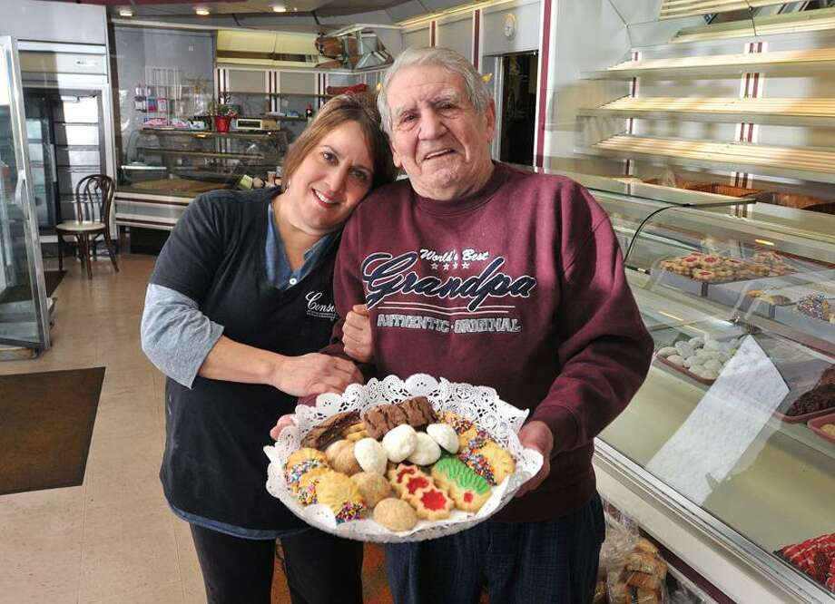 Peschell's Bakery in West Haven is closing its doors after 67 years of business. Harry Peschell, 79, has worded at the bakery, started by his father, since he was a child. Peschell's daughter Donna Peschell Lanziero, left, who also worked in the family business, said Peschell's closed because it could no longer compete with big-box stores and one-stop shopping. Peter Casolino/Register