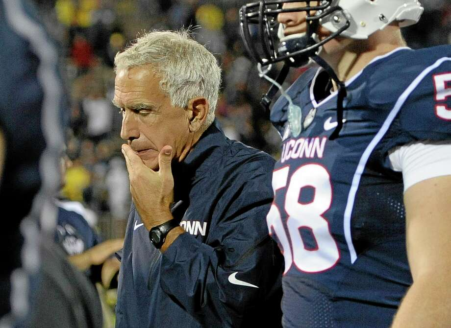 Coach Paul Pasqualoni was fired by UConn on Monday. Photo: Jessica Hill — The Associated Press   / FR125654 AP