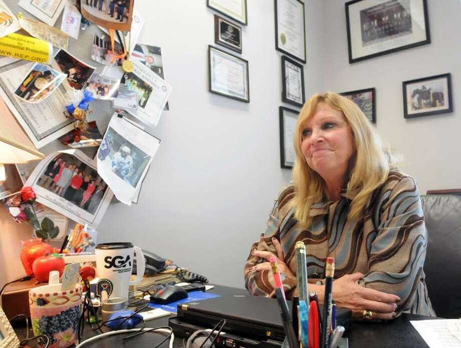 State Rep. DebraLee Hovey in her Legislative Office Building office represents Monroe and Newtown. Mara Lavitt/New Haven Register3/4/13
