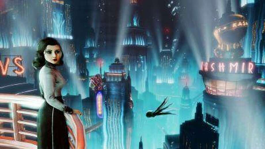 """This publicity photo provided by 2K Games/Irrational Games shows the video game """"BioShock Infinite."""" Irrational Games creative director Ken Levine said Monday, July 29, 2013, that upcoming downloadable content for """"BioShock Infinite"""" would be set in the underwater city of Rapture. (AP Photo/2K Games/Irrational Games) Photo: AP / 2K Games/Irrational Games"""