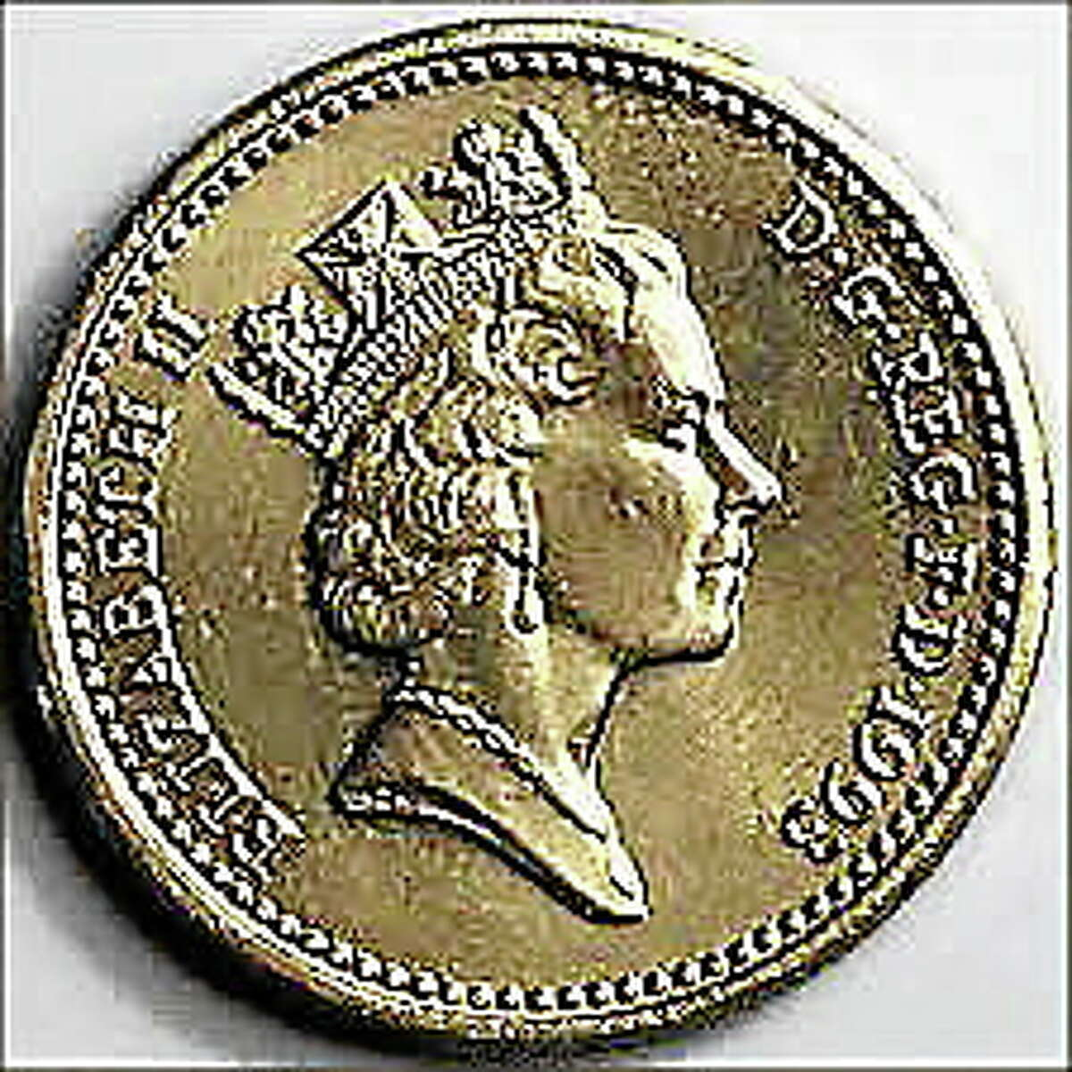 A coin worth 1 pound currently honors Prince George's great-grandmother, Queen Elizabeth II.