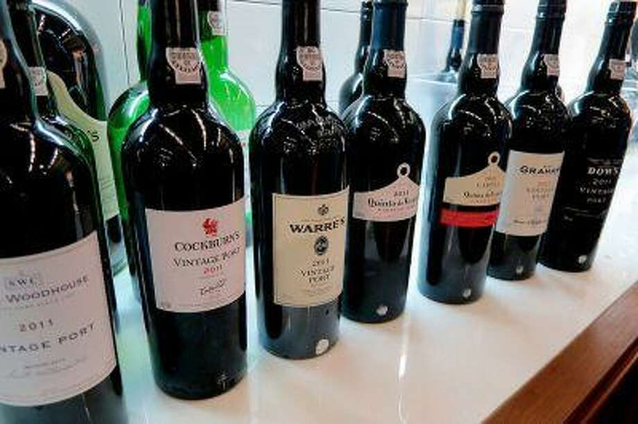 A Symington Family Estates' line up of 2011 vintage ports from the seven brands owned by the company. Photo: BLOOMBERG NEWS / BLOOMBERG NEWS