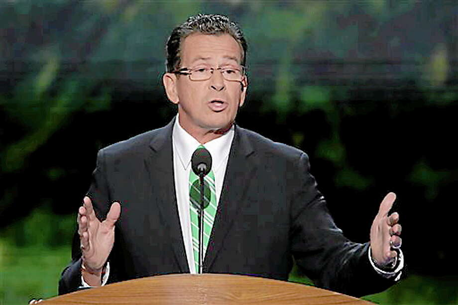 Connecticut Gov. Dannel Malloy addresses the Democratic National Convention in Charlotte, N.C., on Wednesday, Sept. 5, 2012. (AP Photo/J. Scott Applewhite) Photo: AP / AP