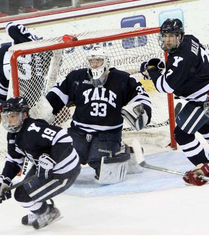 Yale goalie Jeff Malcolm. (Photo courtesy of Yale Athletics)