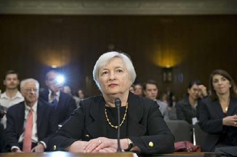 Janet Yellen testifies at her confirmation hearing to lead the Federal Reserve before the Senate Banking Committee on Nov. 14. The committee approved her nomination Thursday. Photo: AP / AP