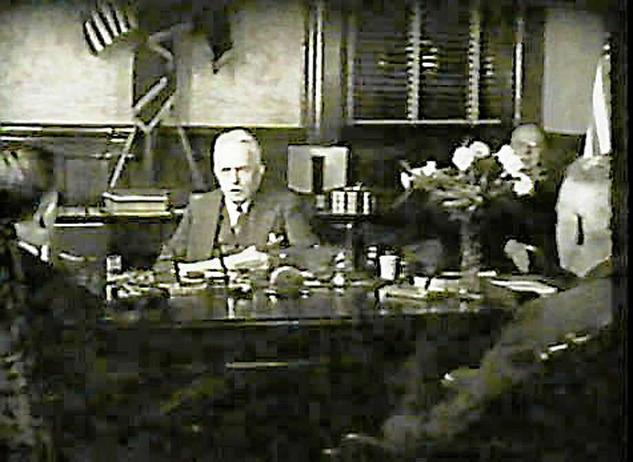 Screen capture of Gov. Wilbur L. Cross reading his 1938 Thanksgiving Proclamation. Courtesy of Connecticut State Library Photo: Journal Register Co.