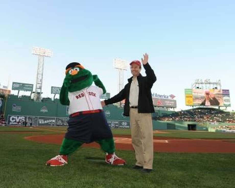 Submitted photo A photo of Daniel Davis on the field at Fenway Park as a 2013 Blood Donor of the Game. Photo: Boston Red Sox / ©2013 Michael Cummo/Boston Red Sox