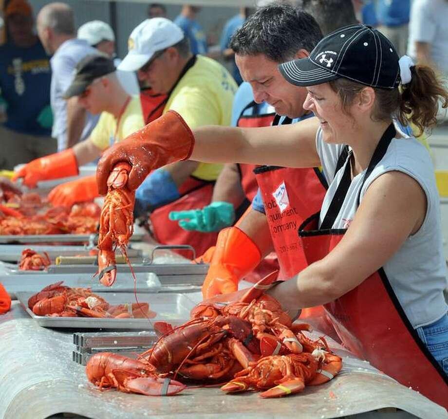 The 37th Annual Milford Rotary Lobster Bake serves over 2,000 people. Mara Lavitt/Register