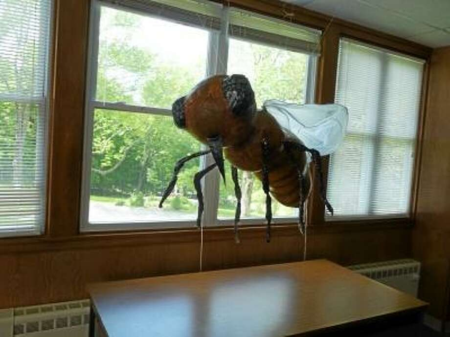 Ryan Flynn/Register Citizen - 'Honey' was created by students at Frances Clem Studios and displayed at Wisdom House during the month of May prior to Bourke's installment being displayed.