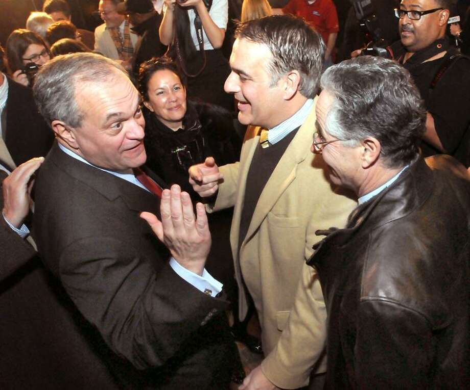 The Russian Lady, New Haven: New Haven Mayor John DeStefano, Jr. announced this will be his last term as mayor. DeStefano, West Haven Mayor John Picard, center, and East Haven Mayor Joseph Maturo. Mara Lavitt/New Haven Register1/29/13