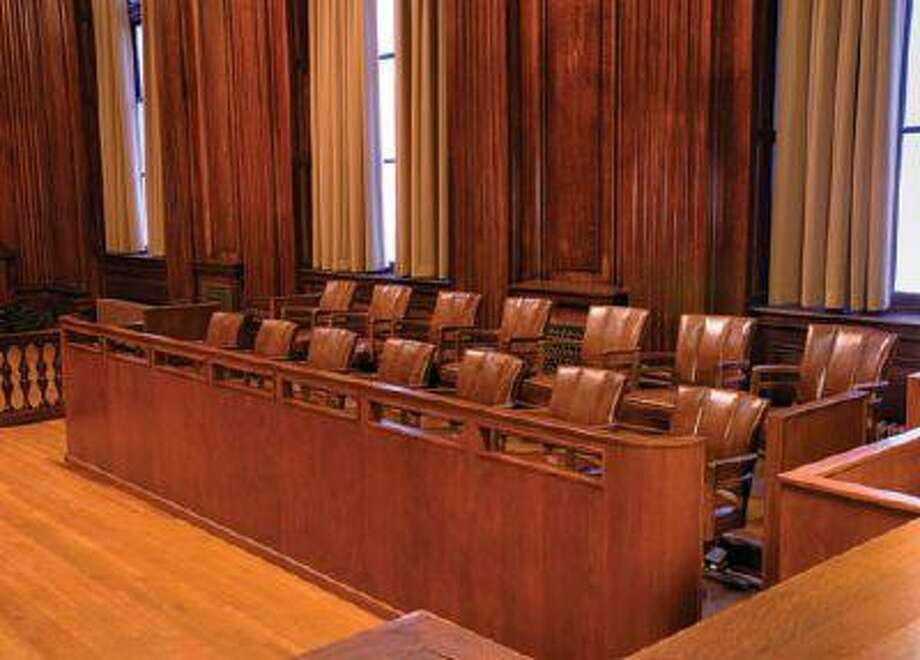 Jury box in courtroom Photo: Getty Images / (c) Don Farrall