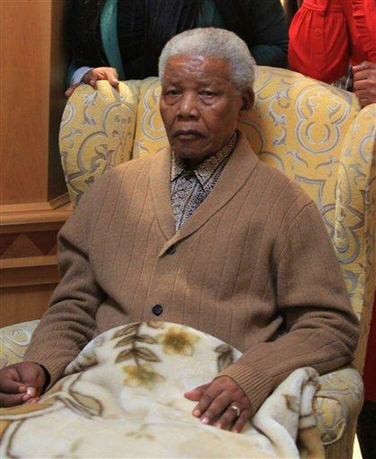 South Africa's former president Nelson Mandela was re-admitted to hospital Thursday with a recurrence of a lung infection. Associated Press file photo Photo: AP / Daily Dispatch