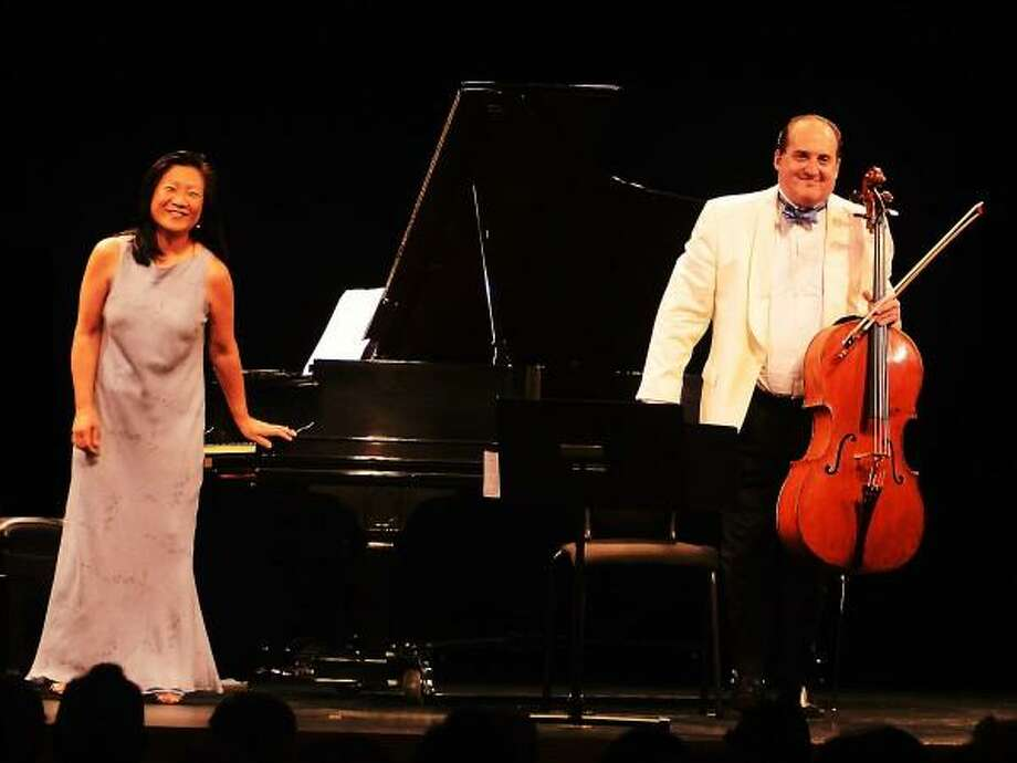 Chestnut Hill Concerts photo: Pianist Mihae Lee, who has performed in the Chestnut Hill Concert series for more than 25 years, and Ronald Thomas, artistic director, team up once again.