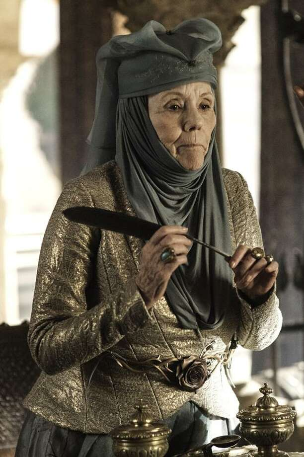 """Helen Sloan/HBO photo: Diana Rigg joins the """"Game of Thrones"""" cast in season three, which premieres at 9 p.m. Sunday."""