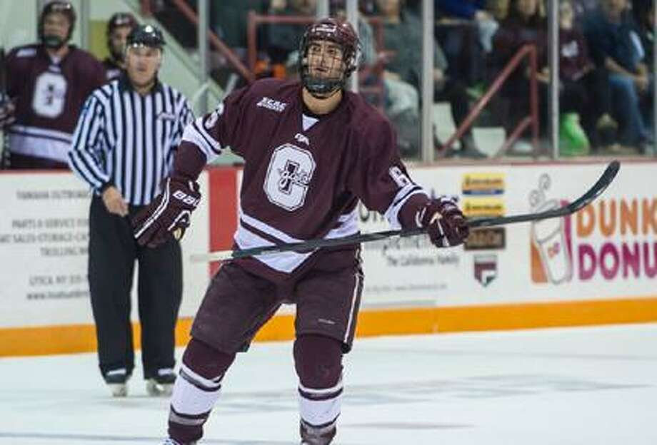 Submitted Photo by Colgate Athletic Communications Colgate defenseman Spiro Goulakos will miss the remainder of the season while undergoing treatment for Hodgkin's lymphoma. / © 2012 Colgate University All Rights Reserved