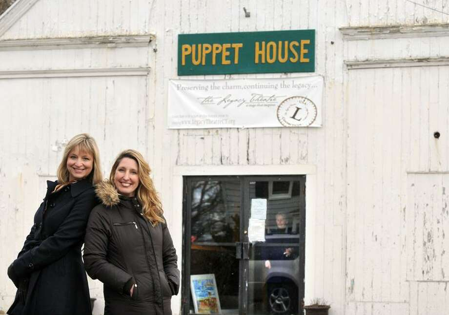 Mara Lavitt/Register photo: The Legacy Theater co-founders Stephanie Stiefel Williams, left, and Keely Baisden Knudsen, both of Guilford, are preparing for a gala April 6, to raise funds to renovate the former Stony Creek Puppet House, which the theater company now officially own. Knudsen is also its artistic director.
