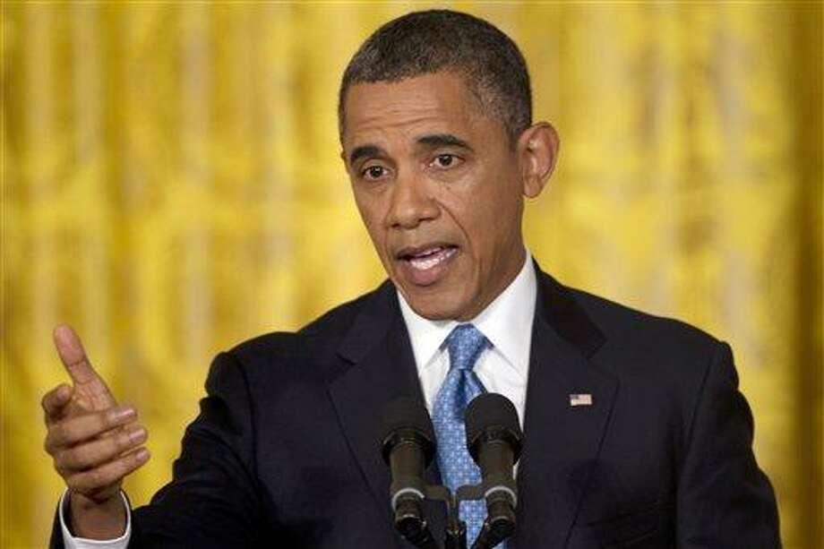 President Barack Obama. Associated Press file photo Photo: ASSOCIATED PRESS / AP2013