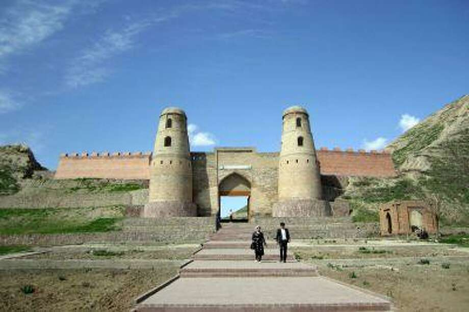 The Hissar Fortress, 18 miles west of Dushanbe, Tajikistan. A checkpoint on the ancient Silk Road, it was ransacked in turn by invaders such as Cyrus, Alexander the Great, Genghis Khan, Tamburlaine and the Red Army.