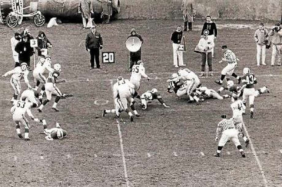 """After """"The Game,"""" originally scheduled for Nov. 23, 1963, was postponed following the assassination of President John F. Kennedy, Yale and Harvard eventually played at the Yale Bowl on Nov. 30, 1963. The Elis won 20-6."""