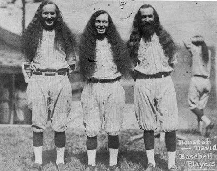 Seems the Red Sox didn't invent the whole team-unity beard thing. This is a photo of a baseball team that used to come around New Haven called The House of David. As sports columnist Chip Malafronte points out, these guys make Jarrod Saltalamacchia look like Johnny Unitas. Photo: MICHIGAN LIBRARY AND HISTORICAL CENTER