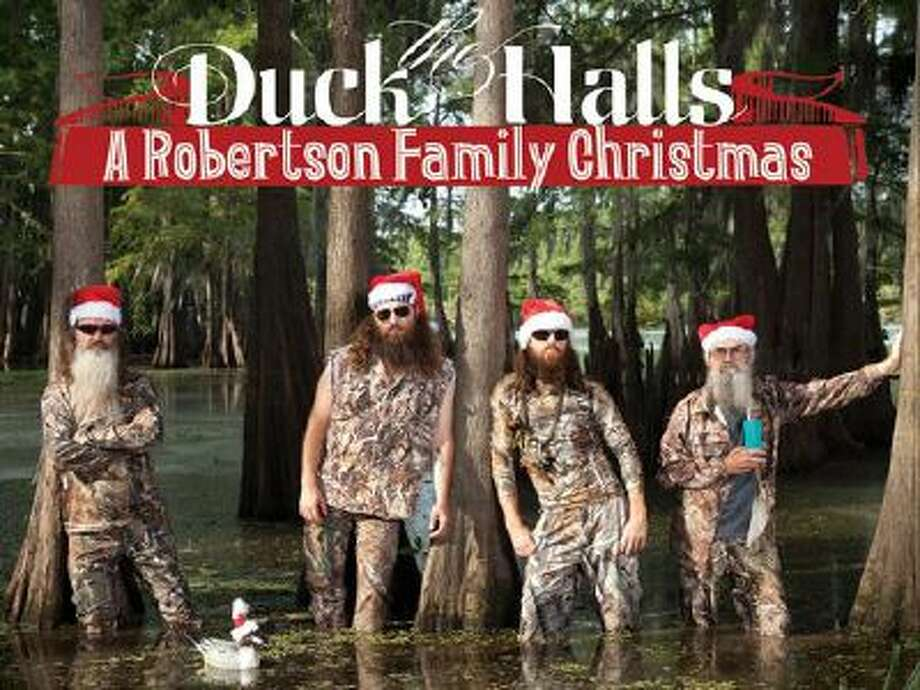 """This CD cover image released by Capitol Nashville shows """"Duck the Halls: A Robertson Family Christmas."""" Photo: AP / Capitol Nashville"""