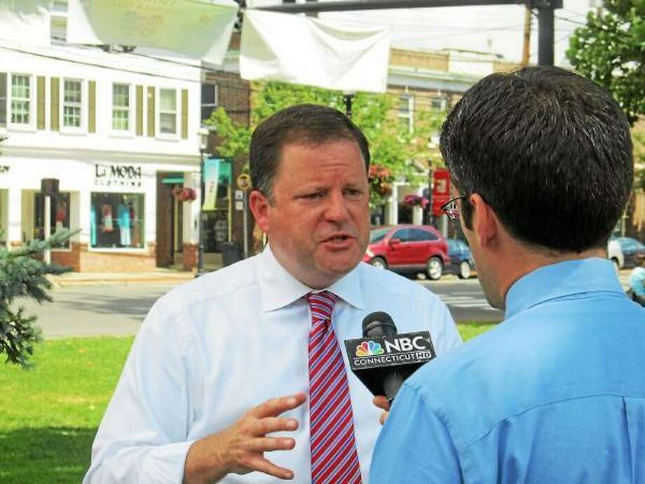 John McKinney talking about his candidacy Tuesday in serial TV interviews. (CTMirror.org)