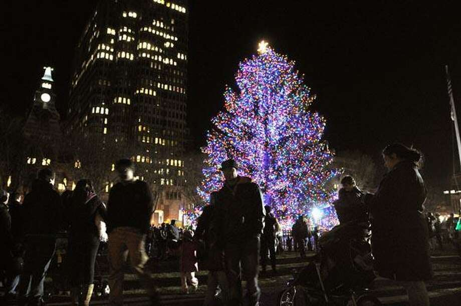 File photo: The New Haven tree lighting ceremony in 2010.