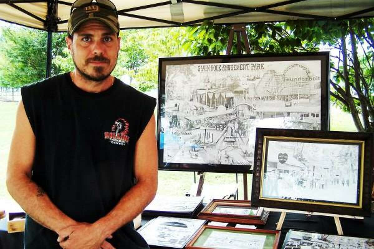 Michael P. Walsh/City of West Haven photo: Roy P. Stober Jr., of West Haven will be showing and selling his pencil drawings of old Savin Rock at the festival.