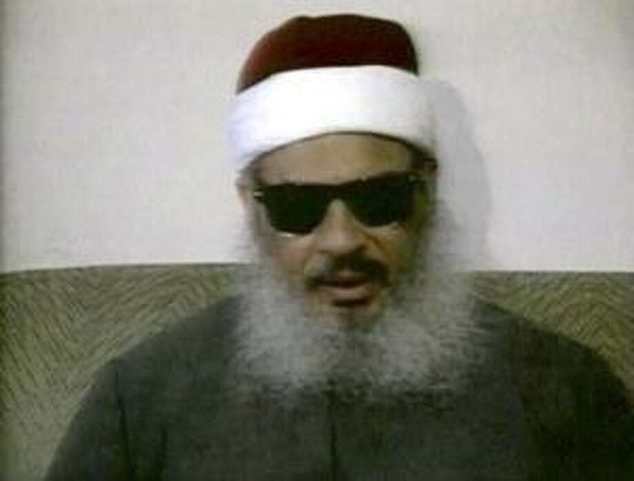 Egyptian Omar Abdel-Rahman speaks during a news conference in this still image taken from February 1993 video footage on Jan. 18, 2013. (REUTERS TV/REUTERS)